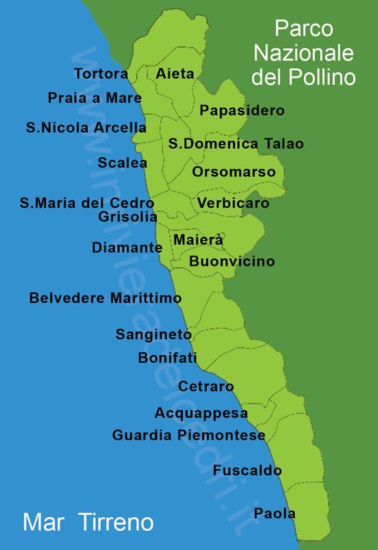 Calabria Costa Tirrenica Cartina.Calabria Vacanze In Riviera Dei Cedri